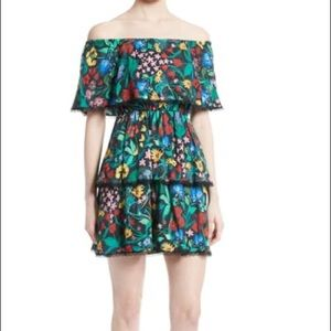 Alice and Olivia Tylie Tiered Ruffle Floral Dress